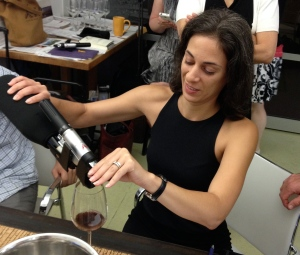 Sarah Ford, Beverage Director at Aquavit, tests out the Coravin.